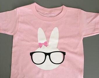 Hipster Bunny, Easter Bunny, Easter Shirt, Bunny