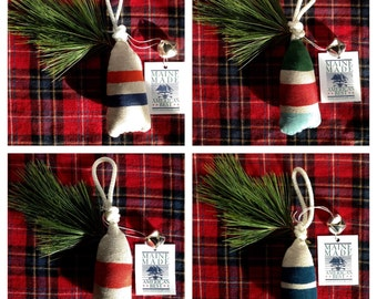 Maine lobster buoy christmas ornament. Nautical tree ornament. Buoy christmas decoration. Buoy tree ornament.