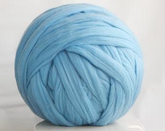 SALE Chunky yarn 500g/1.1 lbs Super chunky yarn Merino Wool Roving Bulky yarn Super bulky yarn Merino yarn Merino wool Gray yarn Giant yarn