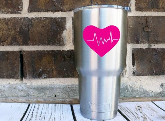 Herz Aufkleber Ekg Lebenslinie Aufkleber Krankenschwester
