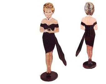 Princess Diana Hand Painted 2D Art Figurine