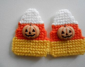 Plastic Canvas Candy Corn Magnets Set of Two Halloween