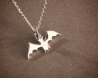 Tiny Bat - Sterling Silver