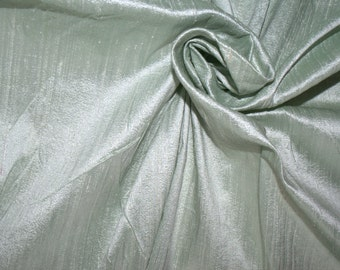 Silk Dupioni in Tea Green- Extra wide 54 inches, DEX 205