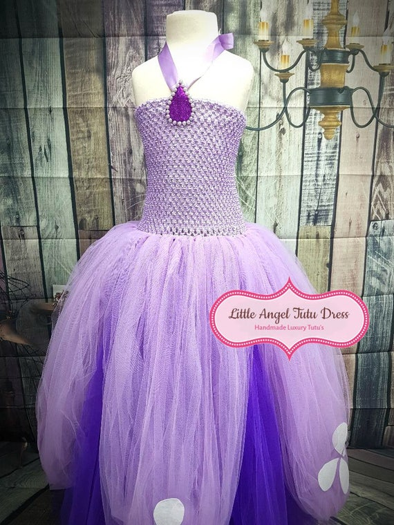 Sofia the First Inspired Tutu Dress. Handmade Tutu Dress.