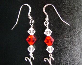 Sterling Silver Swarovski Aries Earrings
