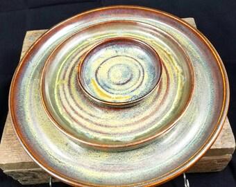 Pottery Platter Set, Plate Set, Ceramic Platter, Ceramic Plates, Ceramic Serving Tray