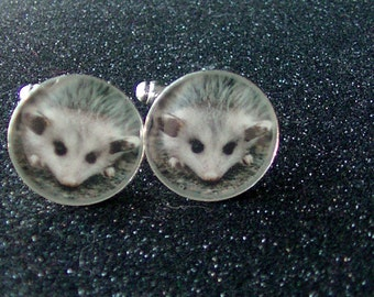 Adorable Baby Opossum Cuff Links - Opossum Accessory - MADE TO ORDER