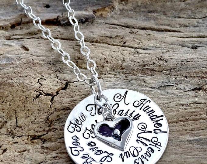 Personalized Grandma Necklace Hand Stamped Jewelry Personalized Jewelry Grandma Heart Gift for Grandma Grandmother Necklace Nana Mimi