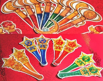 Sailor Moon Wand Stickers