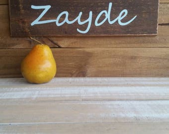 Zayde,Grandfather, Yiddish,Baby announcement gift,  Jewish family gallery wall accent