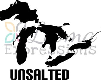 Great Lakes Unsalted Vinyl Decal