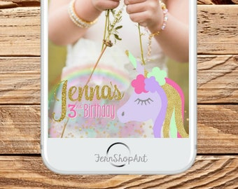 Unicorn Snapchat GeoFilter, Custom Snapchat Filter,Unicorn Party Geofilter, unicorn Snapchat Filter, unicorn party