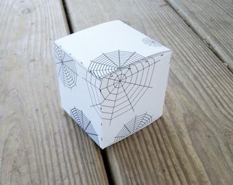 DIY Halloween Printable Cube Favor Box Goth Wedding Favor Box Gothic Gift Box Halloween Download PDF and JPG
