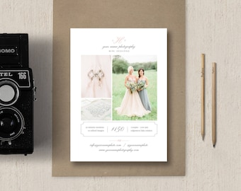 Mini Session Template - Photography Flyer Design - Photoshop Templates for Photographers - Eucalyptus