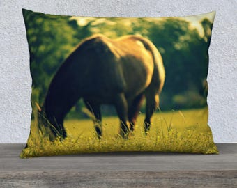 Horse Pillow Cover | Horse Throw Pillow | Horse Photography | Horse Theme Bedding | Horse Decor Pillow Covers Cases | Pillow Covers 18 x 18