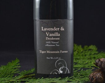 All Natural Lavender & Vanilla Deodorant| Aluminum Free | Non-Toxic and Earth Friendly Vegan Deodorant