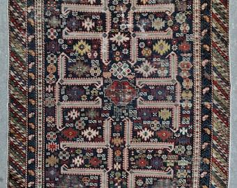 Antique Afshan Kuba Caucasian rug – 3'10 x 5'4 – 117 x 162 cm. - Free shipping!