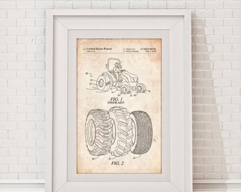 Tractor Tire Patent Poster, Farm Artwork, Tractor Blueprint, Farmer Gift, Agriculture Wall Decor, Tractor Poster, Farming Print, PP1232