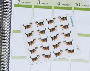 Calico Cat Stickers (Set of 20 Stickers)