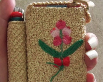 Only One Available And It's Yours With Fast Shipping:) Crochet item  Smokes and Lighter Case