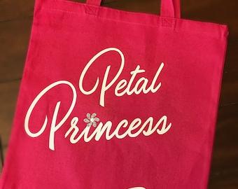 Flower Girl Bag, Wedding Party Bag, Flower Girl Gift, Petal Princess Bag