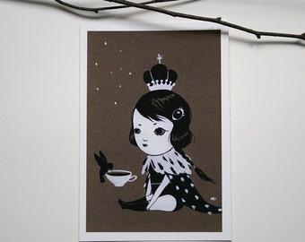 Monarch Kitten - archival mini print