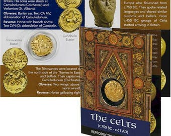Celtic gold plated coin