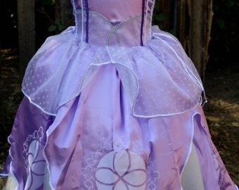 Beautiful Princess Sofia Costume Dress