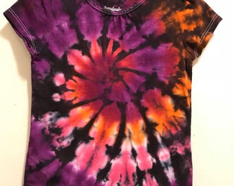 3t Tie Dye Shirt Girls Sunset