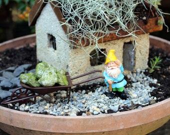 Miniature moss covered rocks-Faux moss rocks-Faux rocks-small garden fun-Terrarium supplies