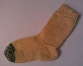 Hand Knit Alpaca Wool Socks Womens  Medium 7-9 Alpine Buttercups