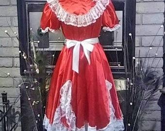 Vtg 80's Ladies SQUARE DANCE / SWING Dress. Large