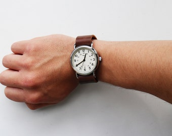 Leather Timex Weekender Watch strap