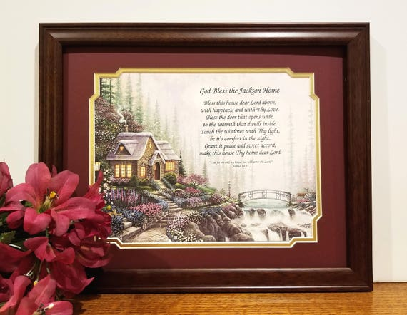 God Bless Our Home Frame Personalized Bless our Home Home