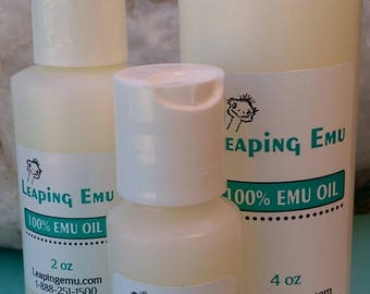 100% Emu oil with or without essential oil