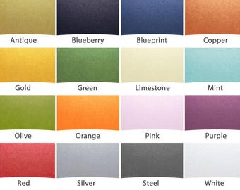 UPGRADE Your Order with Fancy Colors || choose from seventeen shiny metallic-like papers
