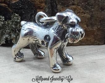 Schnauzer Charm, Schnauzer Pendant, Schnauzer Lover, Dog Lover, Dog Charm, Sterling Silver Charm, Sterling Silver Pendant, PS3157