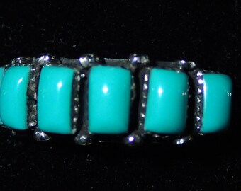 Turquoise Ring in Sterling Silver  nice