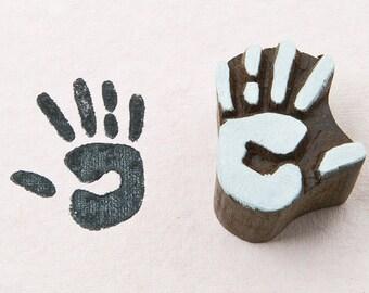 Hand, wooden printing block