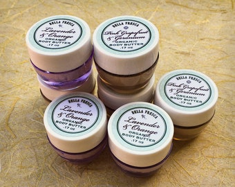 NEW Sample Organic Body Butter, Body Care Sample, Travel Size All Natural Skin Care for Rough Dry Cracked Skin, For Woman, Girls, Teens