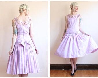 1950s Dress // Plaid NatLynn Dress // vintage 50s dress