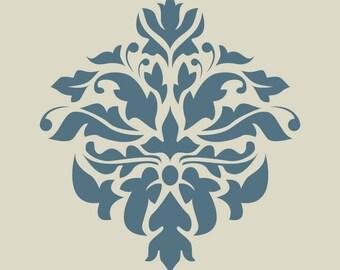 Damascus. Damask. Lace. Floral pattern. (Ref 183) adhesive vinyl stencil