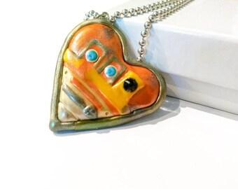 Star wars Chopper heart pendant necklace Star wars rebels droid geek gift jewelry
