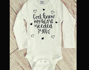 God knew onsie/god onsie