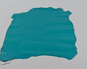 Peau de cuir de chèvre turquoise