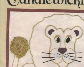 Candlewicking Wall Projects  2 Kits - Lion and Pineapple