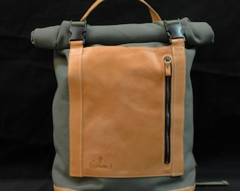 Rollracer fabric Olona and leather with natural