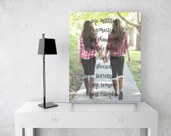 Best Friends Photo Quote Print | Photo Quote Canvas | Gift For Best Friend | Friendship Quote | Personalized Gift For Friend - 48977