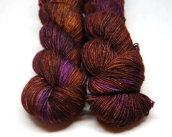 "Fingering Weight, ""Four Sticks"" Merino Wool Superwash Yarn, 4 oz, machine washable yarn"